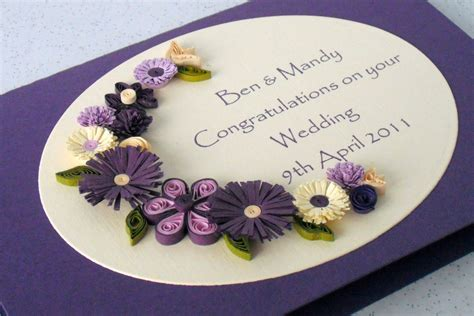 quilling card wedding congratulations card quilled flowers personalized