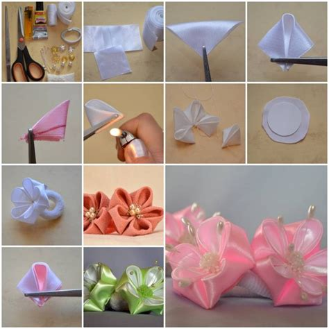 how to make from petals how to make petals ribbon flower diy tutorial