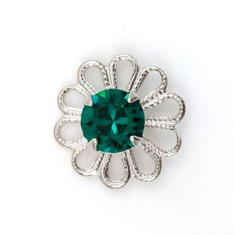 swarovski jewelry supplies swarovski 62020 emerald rhodium plated filigree