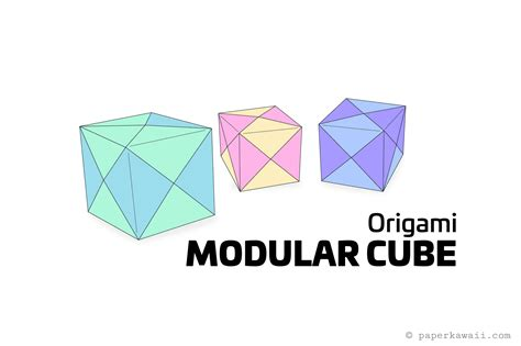 modular origami cube how to make a modular origami cube box