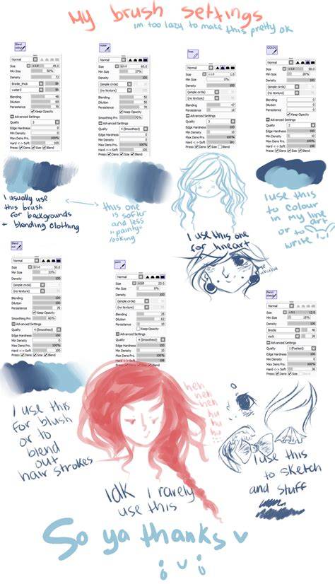 paint tool sai with brushes sai brush settings by soaru on deviantart