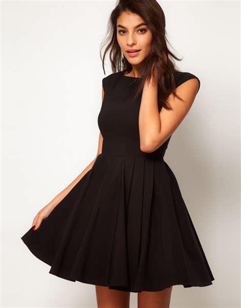 black dress black skirt skater dress retro asos