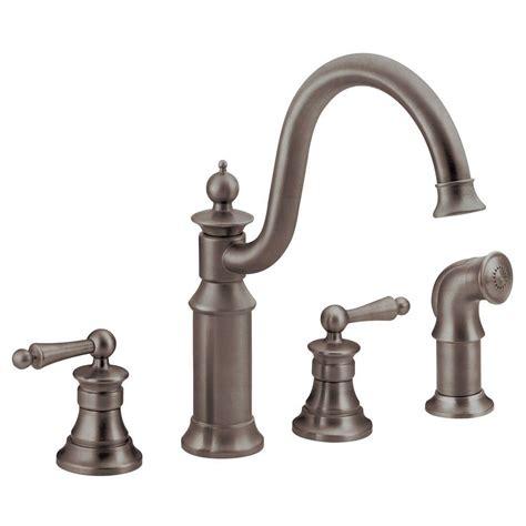 kitchen faucets bronze side sprayer kitchen faucet rubbed bronze
