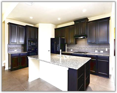 black kitchen cabinets with black appliances espresso kitchen cabinets with black appliances home