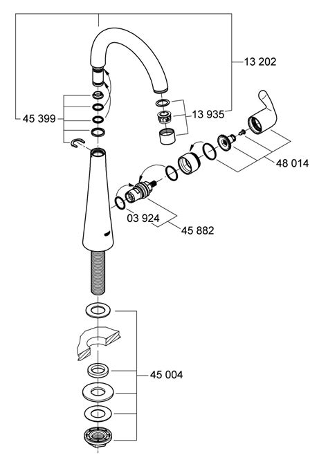grohe kitchen faucets parts replacement image grohe kitchen faucet parts diagram