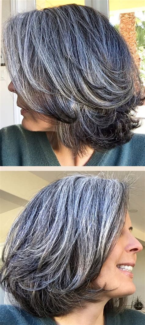how to get gorgeous salt and pepper hair best 25 neck length hairstyles ideas on pinterest