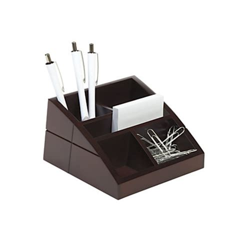 office depot desk organizers realspace wood desk organizer 4 x 6 58 x 3 516 brown by