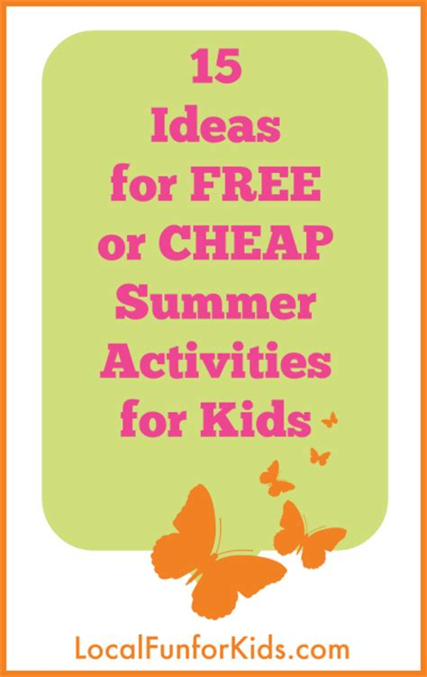 cheap summer crafts for 15 ideas for free or cheap summer activities for