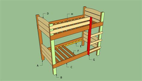 build bunk bed 187 plans to build a bunk bed ladderfreewoodplans