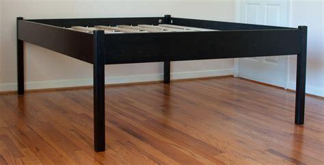 high bed frame build a platform bed frame woodworking plans