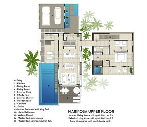 villa plan contemporary mariposa villa with stunning views