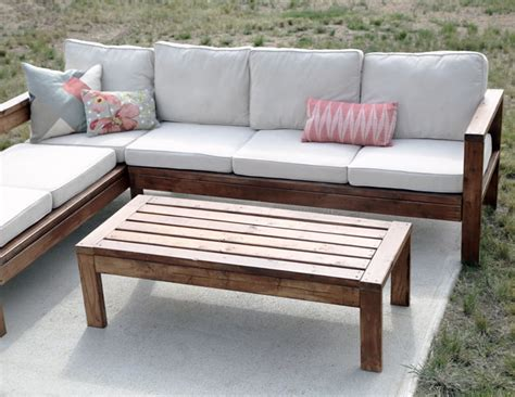 diy patio table plans white 2x4 outdoor coffee table diy projects