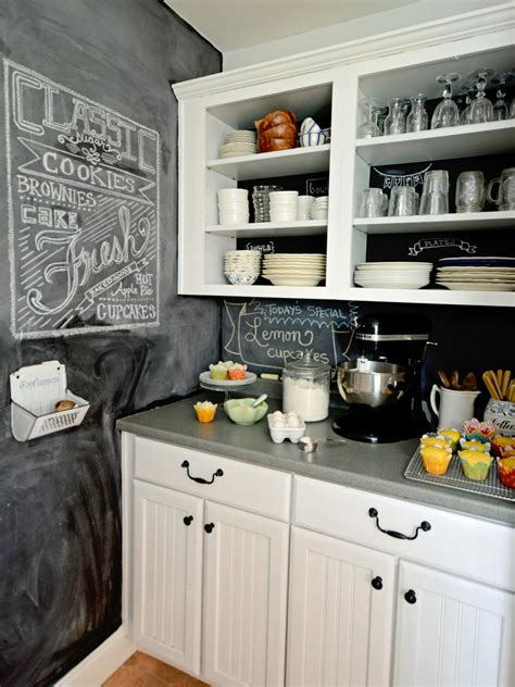 chalkboard paint backsplash how to create a chalkboard kitchen backsplash hgtv
