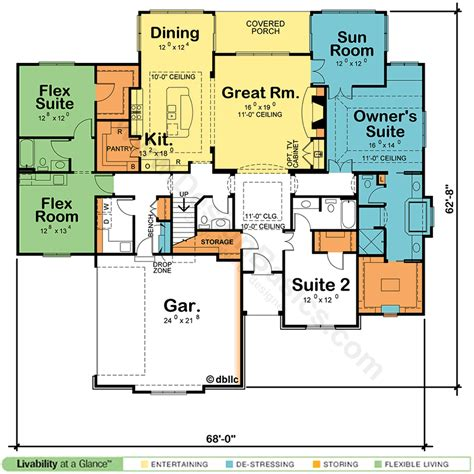 house plans with two master suites design basics