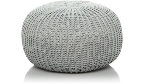 asda knitted pouffe knitted pouffe grey furniture george