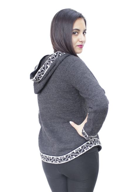 womens knitted hoodie womens hoodie soft and warm alpaca wool knitted hooded