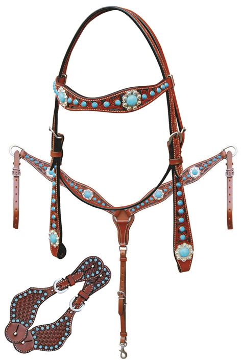 beaded tack sets 3 turquoise tack sets from bar h equine horses heels