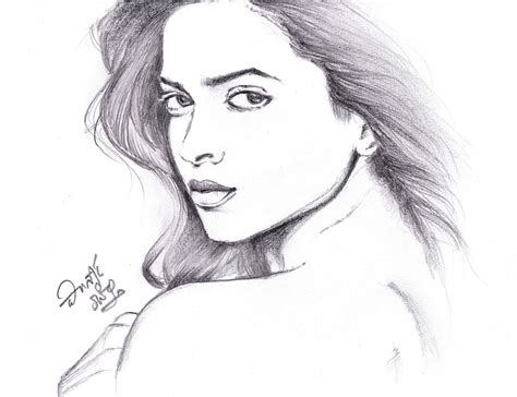 Pencil Artwork Images by I Love Movies Deepika Padukone Pencil Sketch