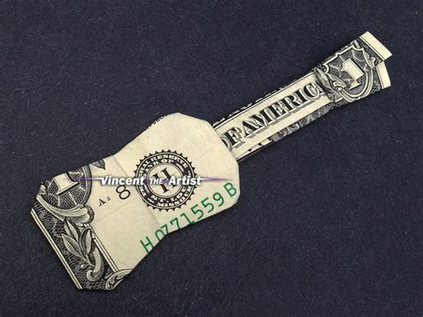 dollar bill origami guitar ukulele guitar money origami by vincent the