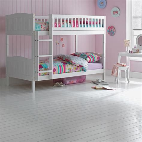 3ft bunk beds wooden bunk bed childrens white 3ft single rosa with