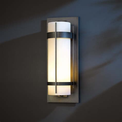 exterior wall lighting fixtures hubbardton forge 305895 banded led exterior wall lighting