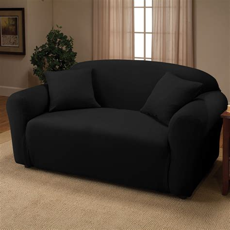 black sofa slipcover black jersey sofa stretch slipcover cover chair