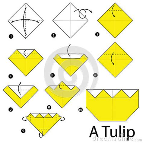 origami tulip step by step step by step how to make origami a tulip