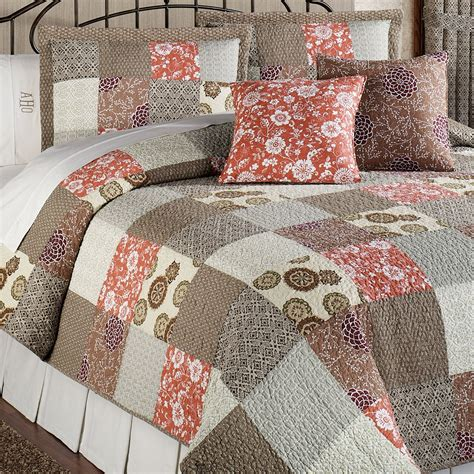 bed quilts stella cotton patchwork quilt bed set