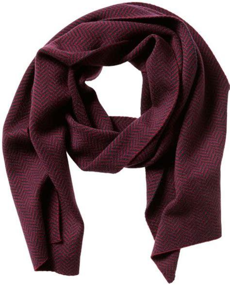 burgundy knit scarf banana republic chevron knit scarf burgundy in purple for