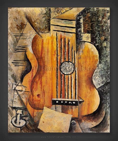 picasso paintings guitar canvas prints