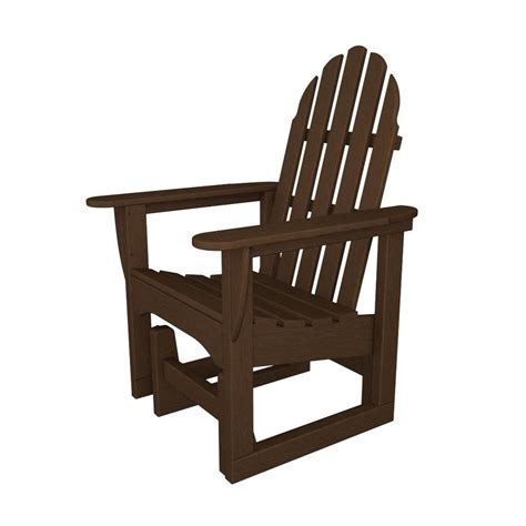 Plastic Adirondack Chairs Lowes by Shop Polywood Mahogany Recycled Plastic Casual Adirondack