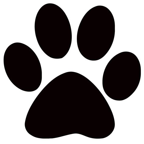 paw print panther paw print clip clipart best clipart best