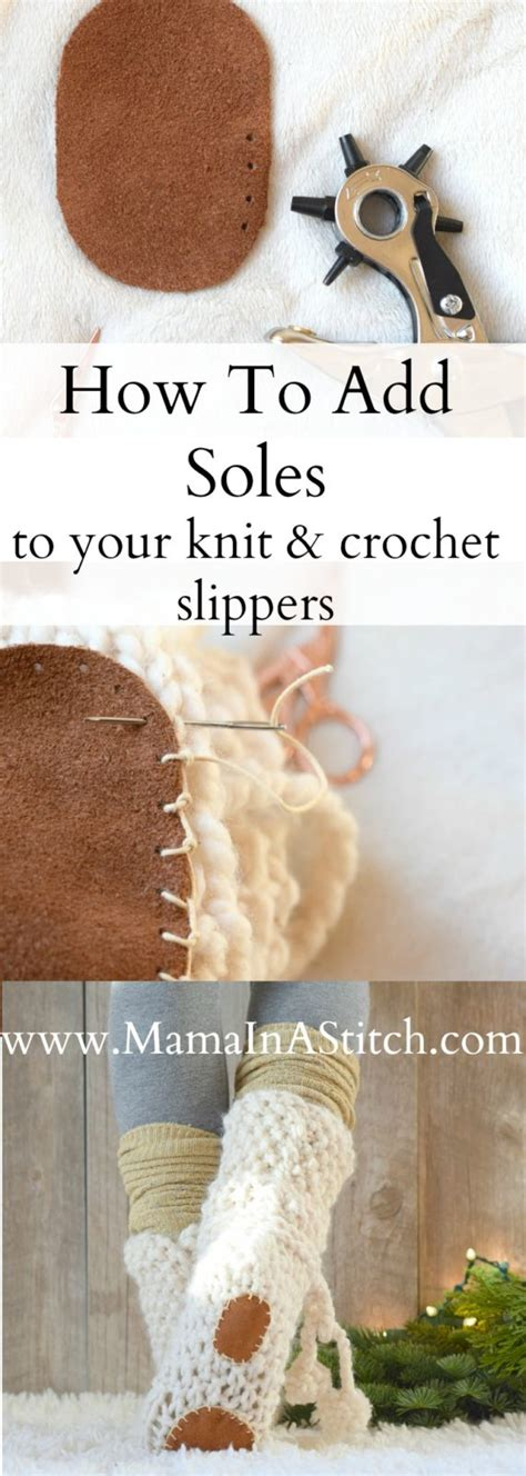 how do i add a stitch in knitting how to add soles to knit or crochet slippers in a