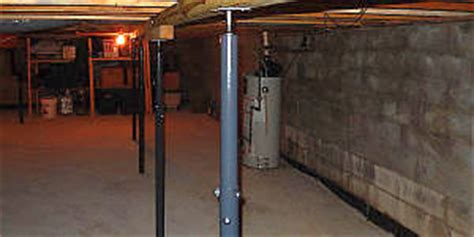 basement support posts adjustable basement metal support post pictures to pin on