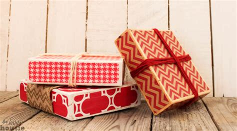presents made of wood wood block faux presents rustic