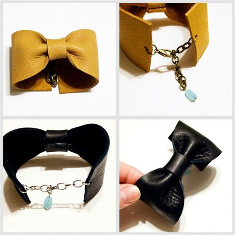 leather cuffs for jewelry 25 best ideas about leather bow on diy