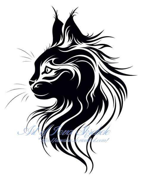 cat designs cat tribal by avestra on deviantart