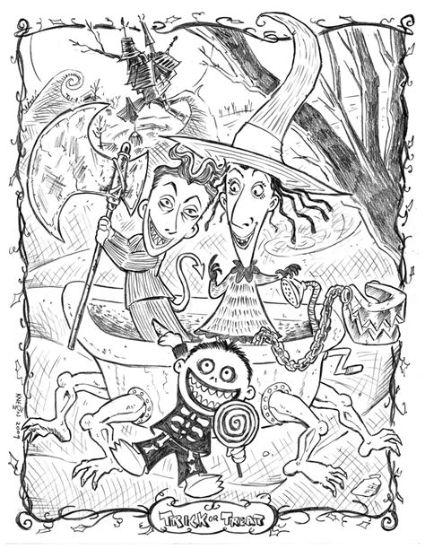 tim burton s the nightmare before coloring book for everybody lock shock and barrel by kneont on deviantart