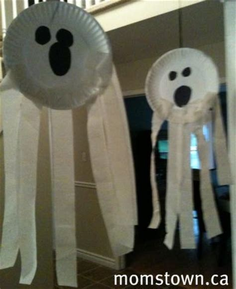 paper plate ghost craft 5 not so scary ghost crafts and activites for