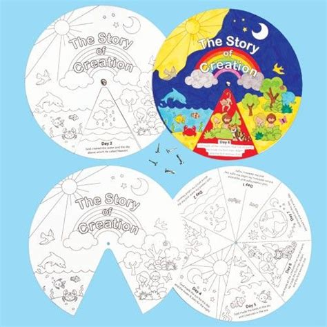 creation crafts for creation story wheels tell the story of creation with