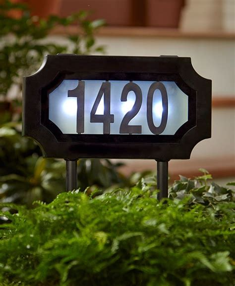 lighted address sign solar 17 best ideas about house number signs on diy