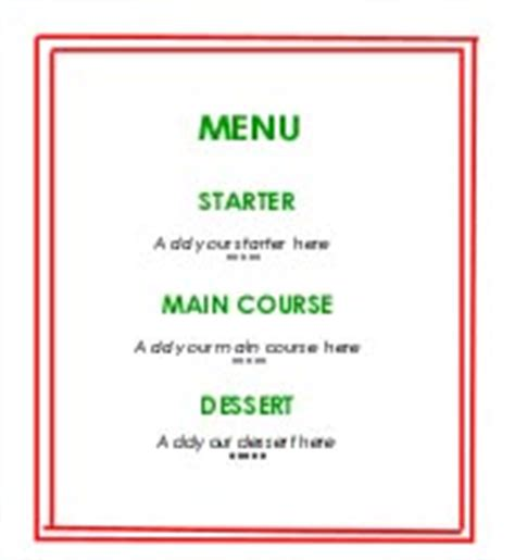 how to make menu card summer 2000 challenge plan a menu