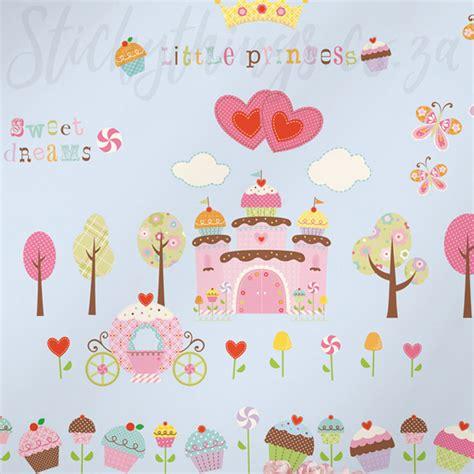 cupcake wall stickers princess cupcake wall stickers happi cupcake land