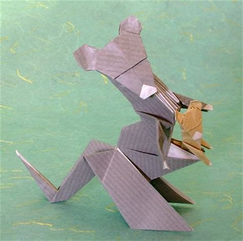 origami kangaroo easy design origami and craft easy arts and