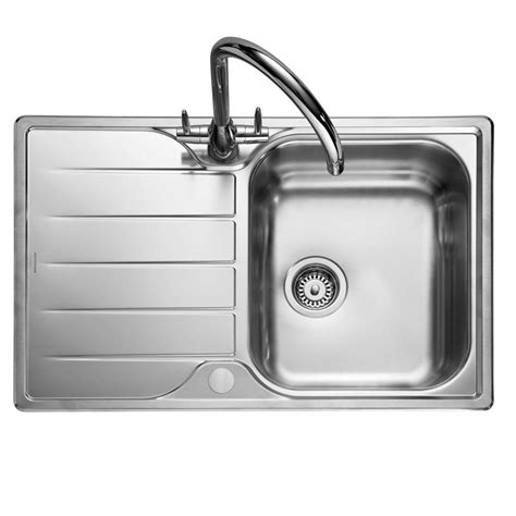 compact kitchen sinks rangemaster michigan compact mg8001 stainless steel sink