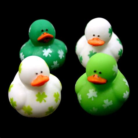 rubber duck st st pats mini shamrock rubber ducks