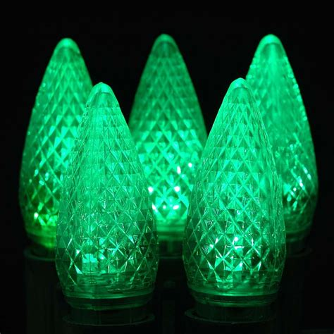 c9 led replacement bulbs led green c9 replacement lights 25 pack
