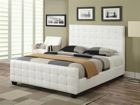 white size bed coaster 300040f white size leather bed a sofa