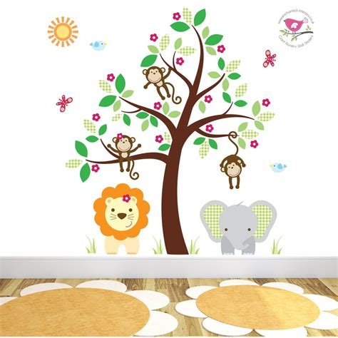 jungle stickers for walls jungle wall stickers for a baby nursery room