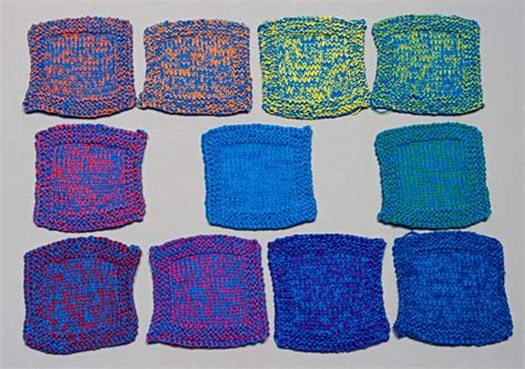 how to knit 2 colors together knitty color blending fall 2008